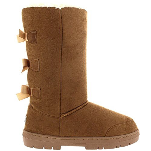 Bow Winter Boots Light Waterproof Classic Womens Snow Tan Rain Triplet Tall qwx54p471