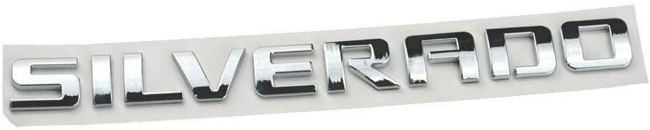 2pcs OEM Silverado Nameplate Plus LTZ Letter Emblems 3D Badge 1500 2500HD 3500HD Original Silverado Series Chrome