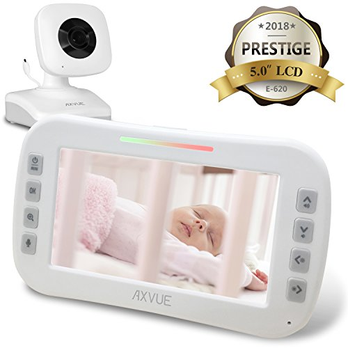"AXVUE E620 Video Baby Monitor with 5.0"" LCD Screen and Night"