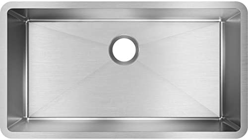 Elkay EFRU311610T Crosstown Single Bowl Undermount Stainless Steel Sink