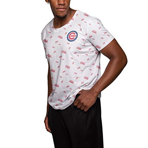 - FOCO MLB Chicago Cubs Mini Wordmark Print TEE - Mens Medium