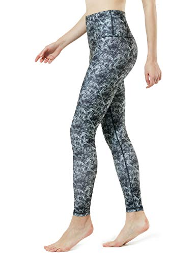 (TM-FYP58-ABK_Medium Tesla Yoga Woodland Print Pants High-Waist Tummy Control w Hidden Pocket)