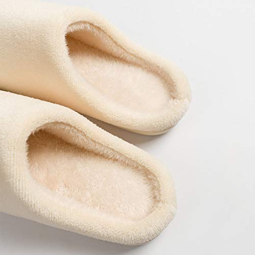 Slippers Washable YUENA Lightweight Beige CARE Plush Toe Closed Slipper Winter Indoor qgxwaxHA