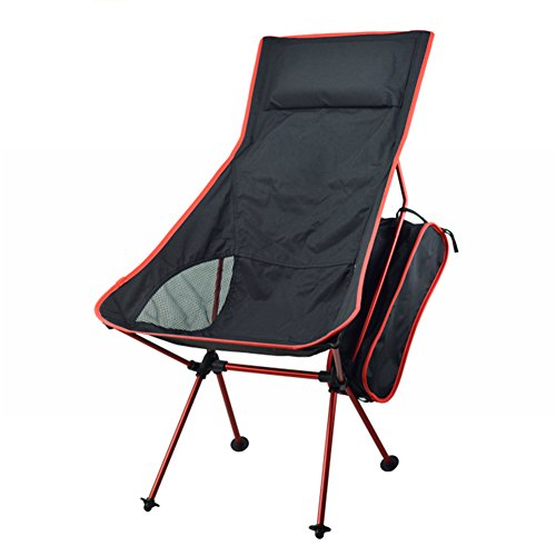 Camping Chairs ONEPACK Ultralight Portable Folding Chairs Lightweight Moon Foldable Beach Chair for Camping Hiking Sporting Touring Fishing Travelling Backpacking Outdoor (Extended Red)