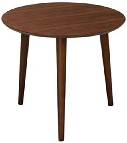 弁天インテリア 高質感 木製円形カフェテーブル ラウンドテーブル ブラウン B06Y665CLH ブラウン ブラウン