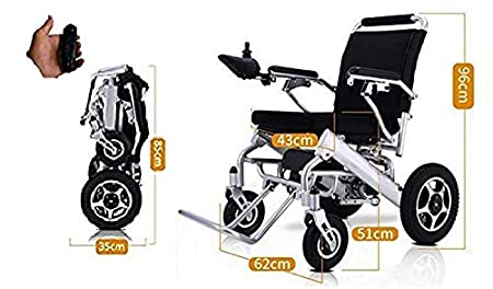 Lightweight Wheelchairs for Adults, Electric Folding Carry Power Chair Silla de Ruedas Electrica para...
