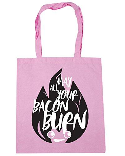 HippoWarehouse May Alle Ihre Bacon Brennen Einkaufstasche Fitnessstudio Strandtasche 42cm x38cm, 10 liter - Klassisch Rosa, One size