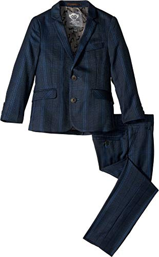 Appaman Kids Baby Boy's Two-Piece Mod Suit (Toddler/Little Kids/Big Kids) Navy Glen Plaid 6 -