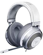 سماعة رأس للألعاب من رايزر كراكين: إطار من الألومنيوم خفيف الوزن - ميكروفون بتصميم قلبي وقابل للسحب - مخصص لأجهزة الكمبيوتر والبلايستشين 4 Headset RZ04-02830400-R3M1