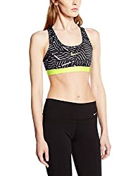 Nike Pro Classic Bash Womens Sports Bra Black/Volt/White
