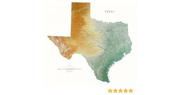 Texas mapa mural topográficos de Raven de mapa de Europa con, diseño de sobre el papel (non-laminado): Amazon.es: Oficina y papelería