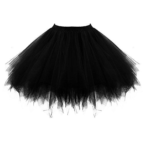 Honeystore Damen's Tutu Unterkleid Rock Abschlussball Abend Gelegenheit Zubehör Schwarz