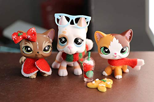 Judylovelps lps Custom Shorthair Cat Elk Meow Kitten and Star Eyes Great Dane with Christmas Accessories Headband Ginggerbread Man Kids Collectable Figures (Christmas Customs Lps)