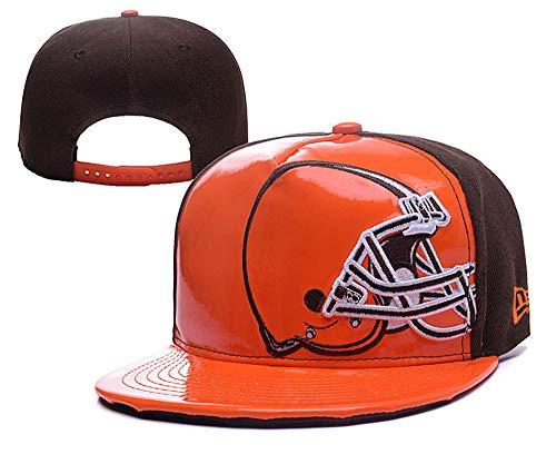 Snapback Adult Unisex Structured Adjustable Hat Cleveland Browns Cap (Orange Brown)