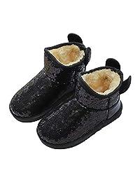 zgshnfgk Boy & Girls Snow Boots Winter Outdoor Waterproof Snow Boots (Toddler/Little Kid/Big Kid)