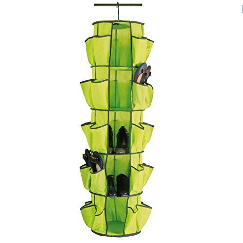 GreenSun(TM) Multifunction Rotatable Storage Collection Foldable Hanging 5 Shelf Round Shoe Bags Organizer