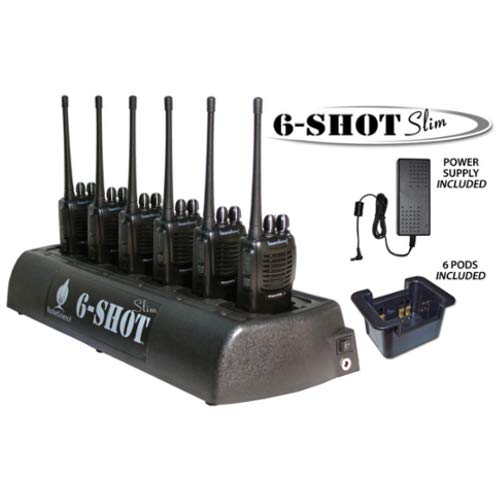 Klein 6-Shot Slim 6-Unit Bank Rapid Two Way Radio Desktop Battery Charger for Motorola TRBO XPR 3300 3500 6000 7000 Radios