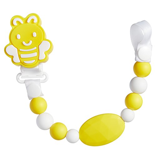 BBBiteMe Pacifier Clip BPA Free Silicone Teether Pacifier Holder-Teething Toy Chain for Boy & Girl
