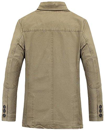 Outdoor Dhyzz Veste Coton Automne Légère Blouson Manteau Classique Survêtement Printemps Costume Denim Hommes Blazer Kaki qqrEA1B