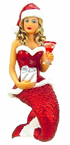 December Diamonds Santa Baby II Mermaid Ornament Decoration