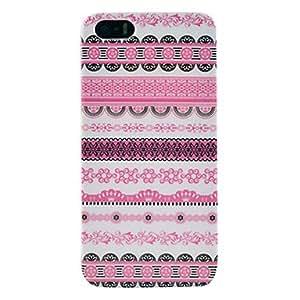 Rico patrón decorativo de plástico brillante Shell trasero para el iphone 5/5s
