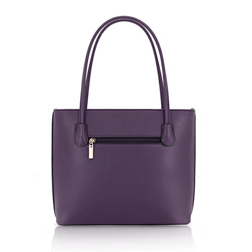 Top Messenger Leather Tote Shoulder Fashion Handle Detail Ladies Womens Purple Faux Bow J48 Bag qw0cXE