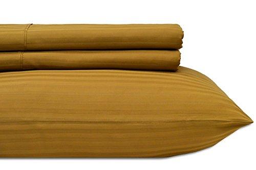 Royal's Stripe Bronze 600-Thread-Count 2pc / Pair Standard / Queen Size 20