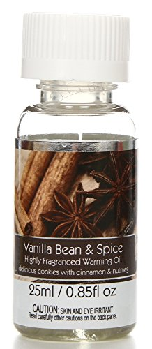 Hosley's Premium Grade Concentrated Vanilla Bean Spice Scented Warming Oil for Aromatherapy - Box of 6 / 25 ml each Ideal for spa, Meditation, Bathroom settings W1 (Warming Diffuser Oil)