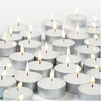 New Waxations Tealight Candles White Unscented 100 pk New Packaging Box and Shrink Extra Protection