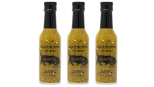 Merfs Condiments Hot Sauce (Electric Lime, 3 pack)
