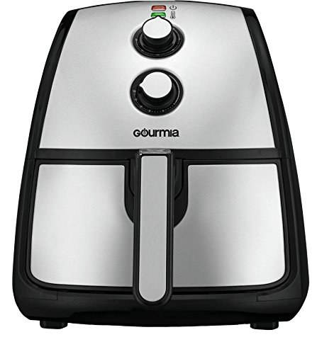 Gourmia GAF560 Air Fryer | Oil-Free Healthy Cooking | 5-Quart Capacity | Adjustable Time and Temperature Dials | Removable Dishwasher-Safe Crisper Tray | Free Recipe Book Included