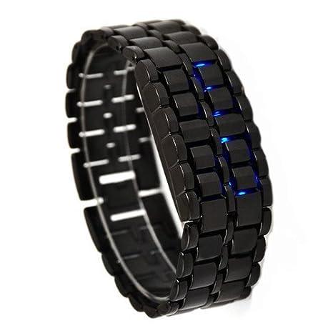 CursOnline Reloj digital de pulsera de LED Hombre Mujer Niño lava Samurai Wrist Watch Pulsera Ajustable Negro: Amazon.es: Electrónica