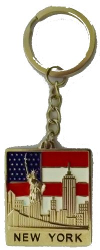 New York Keychain - Manhattan, Statue of Liberty, New York City Souvenirs (Liberty Chains Statue Of)
