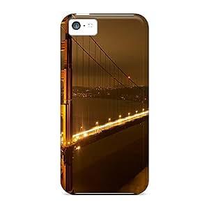 CaroleSignorile Fashion Protective Golden Gate Bridge Nights Cases Covers For Iphone 5c