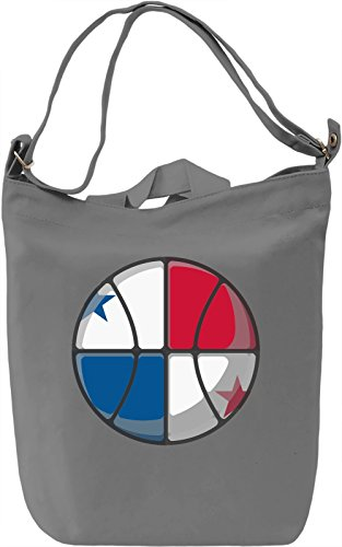 Panama Basketball Borsa Giornaliera Canvas Canvas Day Bag  100% Premium Cotton Canvas  DTG Printing 