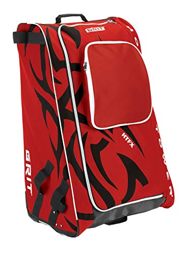 Grit Inc HTFX Hockey Tower 36 Wheeled Equipment Bag Red HTFX036-CH (Chicago)