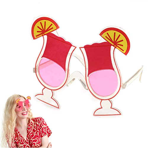 SUSHAFEN Funny Cherry Juice with Lemon Shaped Birthday Party Glasses Novelty Fruit Sunglasses for Birthday Gifts Cocktail Hawaiian Costume Accessories Party Supplies Decoration (Sunglasses Cocktail Novelty)