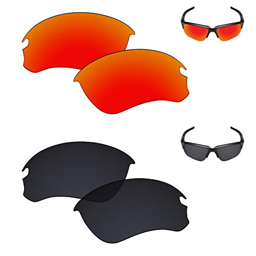 9eaa8e9a669d1 Galvanic Replacement Lenses for Oakley Si Speed Jacket Sunglasses - Ruby +  Black Polarized - Combo Pack
