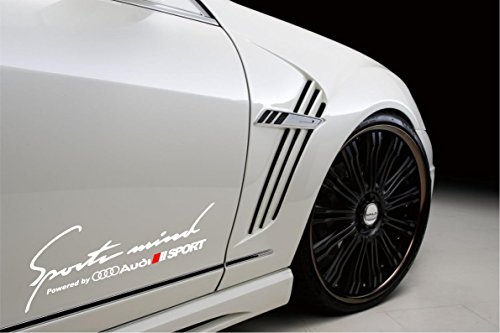 (Sports Mind Powered By Audi Sport Racing Decal Sticker Emblem Logo White Pair ...)