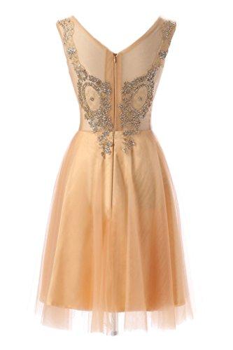 alta dell'abito Bete Ivydressing party collo Scheind donna Hellgolden qualità lungo tulle da di Prodotto sera vestito circa Bvw8x5
