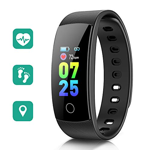 STOON Fitness Tracker, 0.96inch Color Screen Heart Rate Activity Tracker with Blood Pressure Sleep Monitor, Waterproof Pedometer Watch Step Counter Calorie Counter for Kids Women and Men