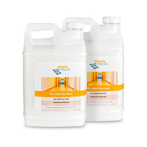 Price comparison product image Simply Floors FLC-00001 18% solids Floor Finish - [Pack of 2 - 2.5 gallon bottles] Economical Low Solids,  High Gloss Floor Finish,  Wax and Polish,  Liquid Metal Cross Link Acrylic Floor Coating and Protecting Solution