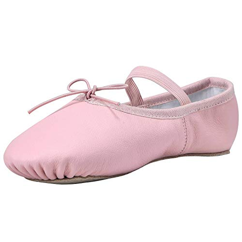 - Linodes Leather Ballet Shoes/Ballet Slippers/Dance Shoes Toddler Pink-5M