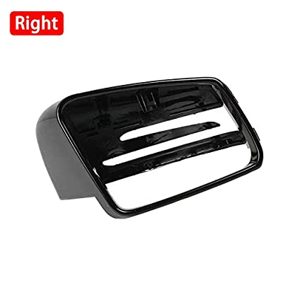GreceYou Bright Black Carbon Fiber Cover Rearview Wing Mirror Case Cover For Mercedes-Benz C-Class W176 W246 W204 W212 W221 CLS X156 C117: Automotive