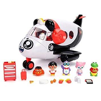 RYAN'S WORLD Panda Airplane Set with 6 Figures