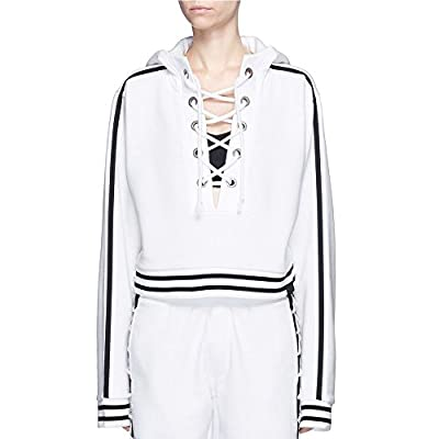 Fenty Puma By Rihanna Rising Sun Lace-Up Hoodie White Medium