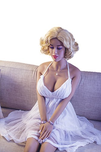 Silicone Eyes Closed Sex Doll (Huge Breasts-158CM/5.18ft) Real Full Body 4.85ft/5.18ft/5.4ft/5.5ft with Metal Skeleton Life Size Love Doll Realistic Big Breasts Sex Toys for Men