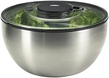 OXO Steel Salad Spinner (Silver)