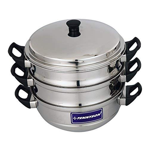 TENNYSON Stainless Steel Steamer  Silver