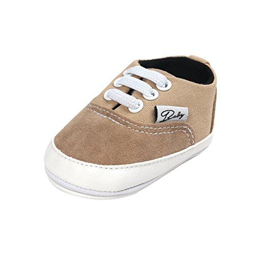 Baby Boys Toddler Leather Crib Shoes Sneaker Khaki - 9